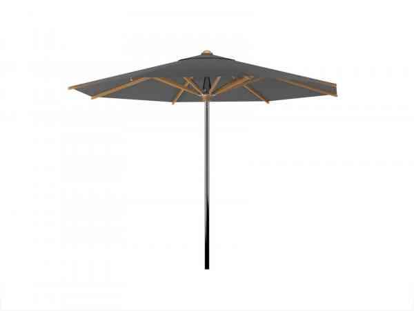 SHADY Sonnenschirm 450 cm rund Edelstahl / Teak