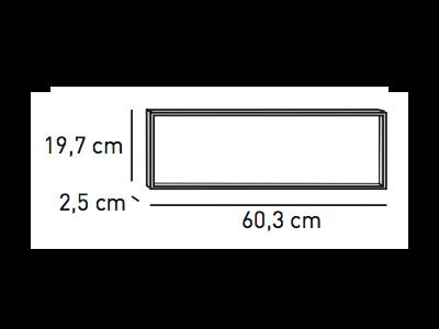 ELEMENTS Distanzrahmen 2,5 x 60 x 19,7 cm für Wandhalterung