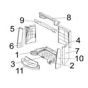 VOGUE Keramott Feuerraumauskleidung komplett (Ziffer1-2, 4-11)