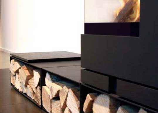 ELEMENTS Auflegetablett aus dunkel lackiertem Holz 40 cm