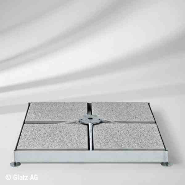 Sockel M4 120 kg, Stahl verzinkt, ohne Platten