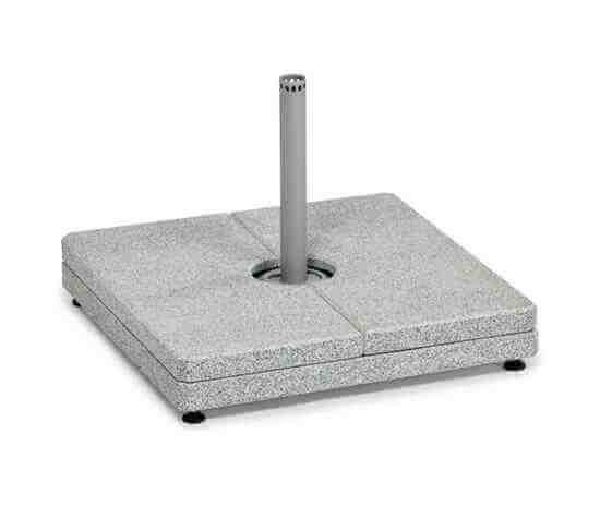 Bodenplatte Granitständer 2-tlg 241 kg grau für 4x4m FREIARMSCHIRM WH