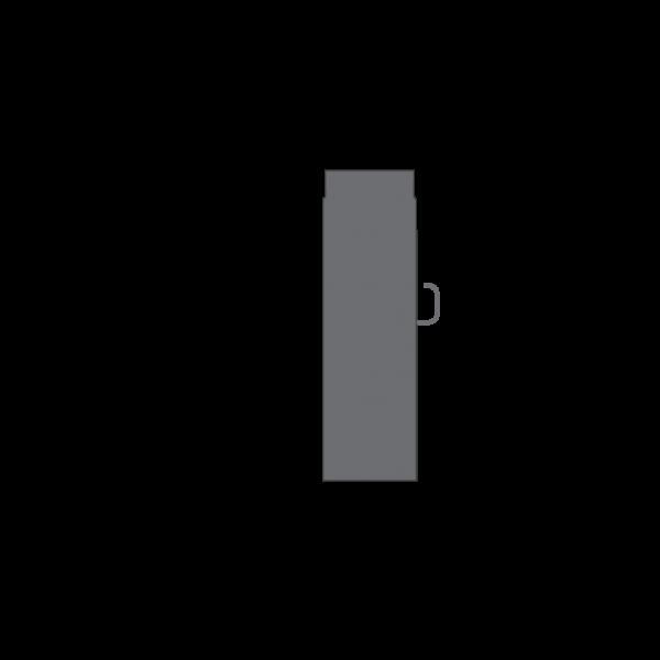 Rauchrohr 500 mm, Ø 120 mm mit Drosselklappe, gussgrau