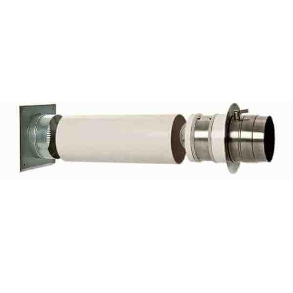 Doppelklappe Ø 80 mm isoliertes Zuluftsystem für externen Luftanschluss
