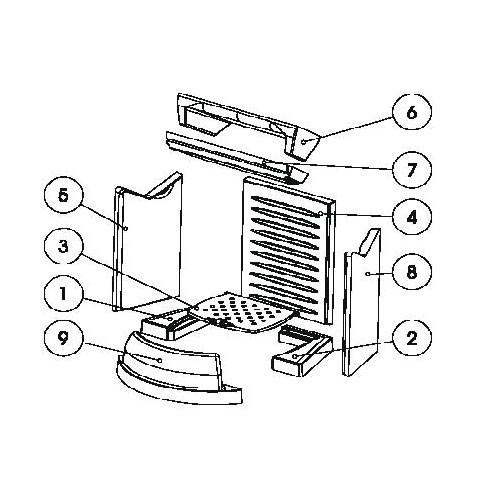 LUBA Keramott Feuerraumauskleidung komplett (Ziffer 1,2, 4 ...
