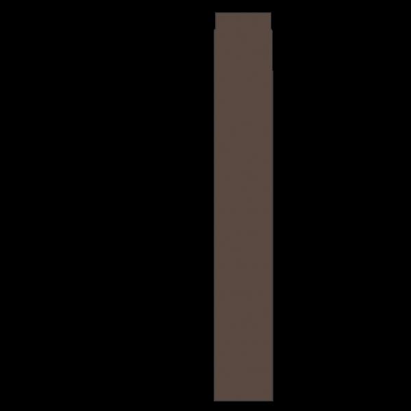 Rauchrohr 1000 mm, Ø 150 mm, braun-metallic