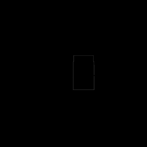 Rauchrohr 250 mm, Ø 150 mm mit Drosselklappe, schwarz-metallic