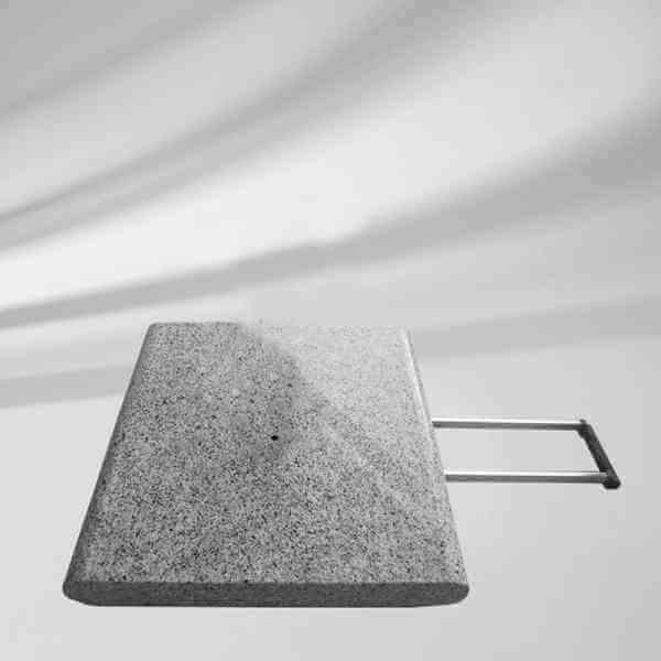 Granitsockel Z 55 kg mit Ausziehgriff und Rollen, ohne Standrohr