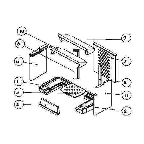 VILLA / VILLA BACK Keramott Feuerraumauskleidung komplett (Ziffer 1-2, 4-11)