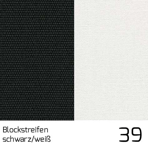 Dolan Streifen schwarz-weiss 39 | 100% Polyacryl (Dralon®)