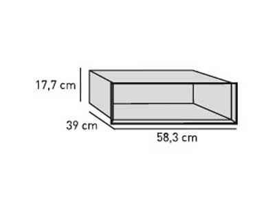 ELEMENTS Strahlschutz-Einsatz 60 cm