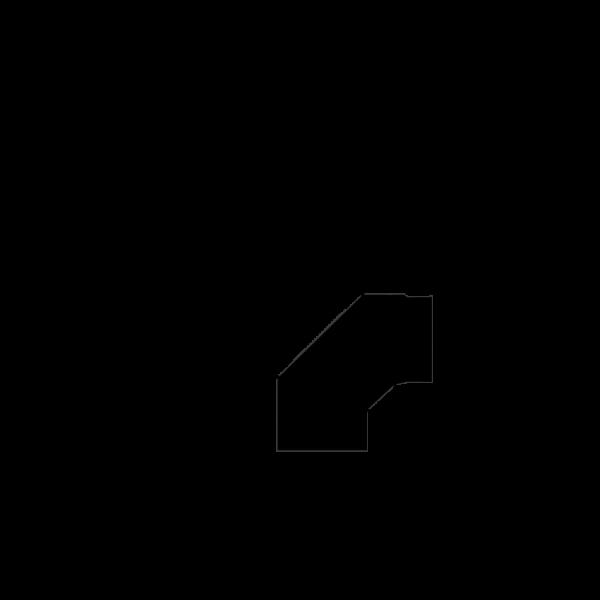 Winkelrohr 0-90° verstellbar, Ø 150 mm, schwarz-metallic