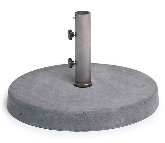 BETONSOCKEL 50 kg, 60 cm rund, Rohr 54 mm