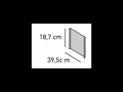 ELEMENTS Strahlschutzblech 18,7 x 39,5 cm