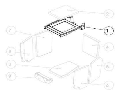 G1 Rahmen für Umlenkplatte Guss (Ziffer 1)