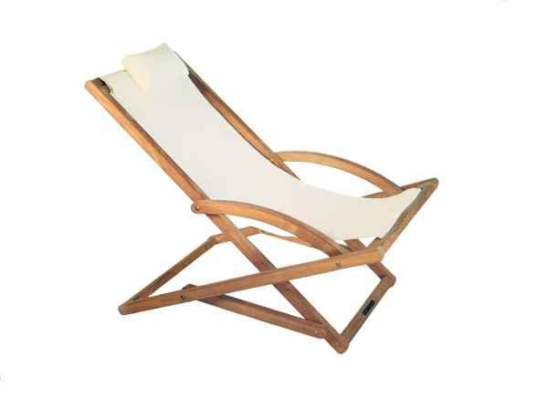 BEACHER Liegestuhl mit Stoff- oder Batyline Bespannung