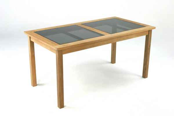 RAVENNA Tisch 150 x 80 mit Glasplatte