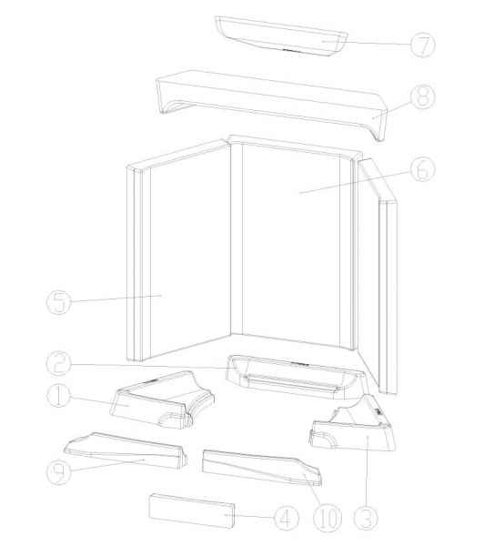 LOUNGE / LOUNGE Xtra Keramott Feuerraumauskleidung komplett (Ziffer 1-10)