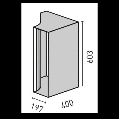ELEMENTS RUND Optik-Box vertikal, 40,0 x 60,3 cm