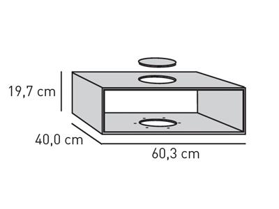 ELEMENTS Technik-Box 60 cm, Anschlussöffnung mittig