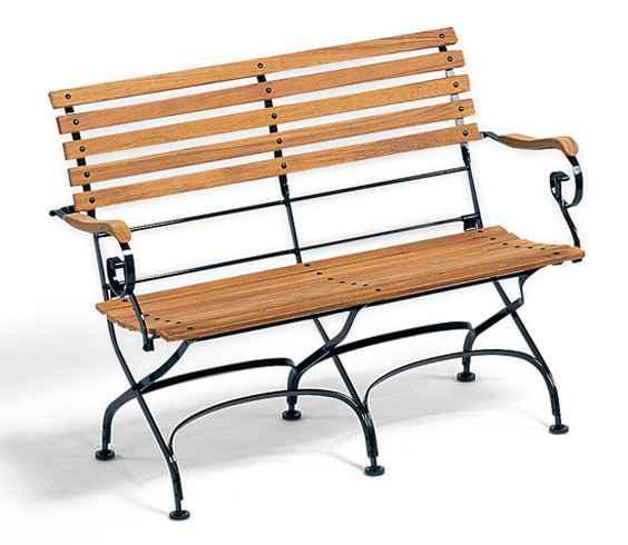 CLASSIC 2-Sitzer Bank mit Armlehnen, klappbar
