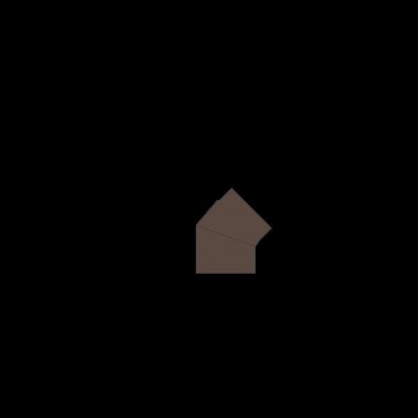 Winkelrohr 45°, Ø 130 mm, braun-metallic