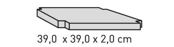 ELEMENTS Strahlschutzplatte 39 x 39 x 2 cm