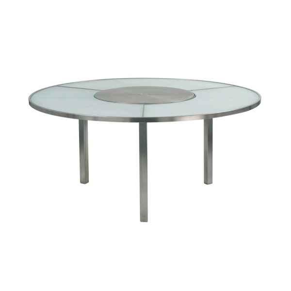 O-ZON Tisch 185 cm, Mittelteil Edelstahl