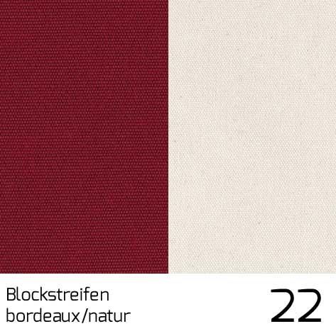 Dolan Streifen bordeaux-nature 22 | 100% Polyacryl (Dralon®)