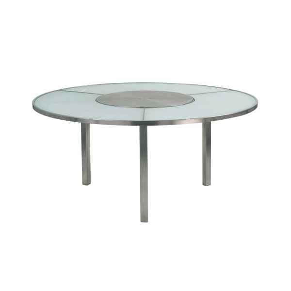 O-ZON Tisch 160 cm, Mittelteil Edelstahl