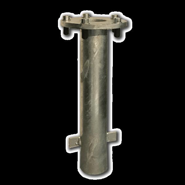 Bodenhülse M4 Stahl verzinkt mit Standrohr M4 P+