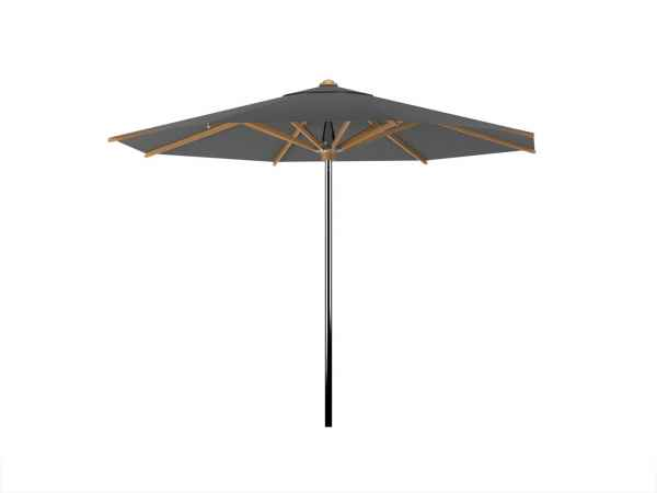 shady sonnenschirm 350 cm rund edelstahl teak royal botania sonnenschirme. Black Bedroom Furniture Sets. Home Design Ideas