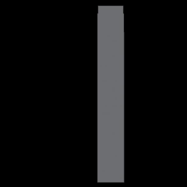 Rauchrohr 1000 mm, Ø 130 mm, gussgrau