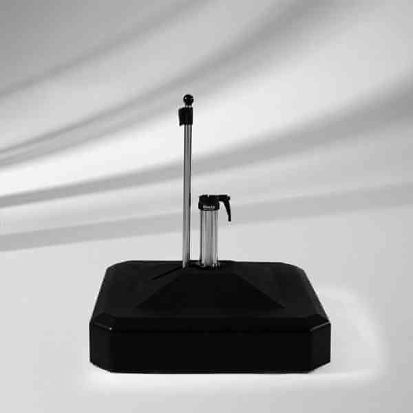 Rollensockel 100 kg anthrazit mit Standrohr Edelstahl 48 / 55 mm