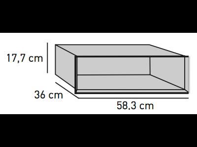ELEMENTS Strahlschutz-Einsatz für hängende Optik-Box 58,3 x 36,0 x 17,7 cm