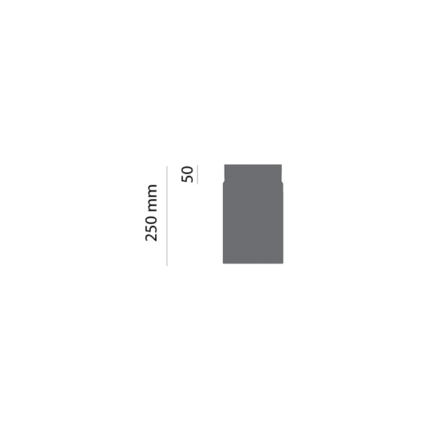 Rauchrohr 250 mm, Ø 130 mm, gussgrau