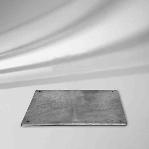 Stahlsockel Z 40 kg, 58,5 x 58,5 x 2 cm mit Standrohr 35, 38, 39 mm, Stahl verzinkt