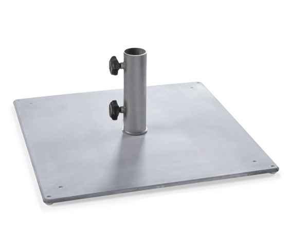 BODENPLATTE Stahl 55 kg, Rohr 62 mm