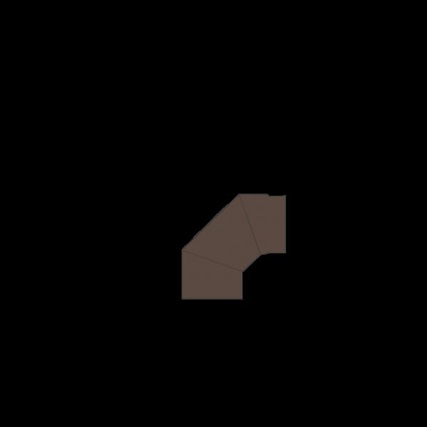Winkelrohr 90°, Ø 150 mm, braun-metallic