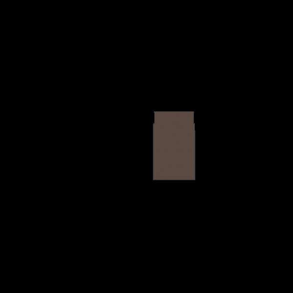 Rauchrohr 250 mm, Ø 130 mm, braun-metallic