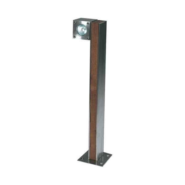 Q-BIC Stehleuchte 60 cm, 1 Spot Teak / Edelstahl