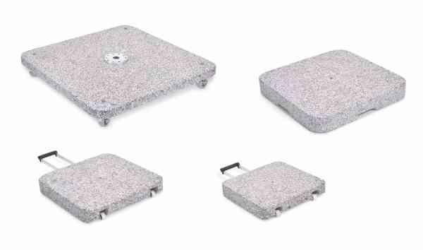 Granitsockel Z 40 kg mit Rollen, ohne Standrohr