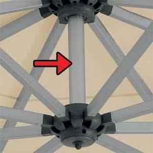 Sombrano easy Innenstock für quadratische Schirme eloxiert