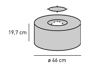 ELEMENTS RUND Technik-Box Anschluss hinten, ø 46,0 cm