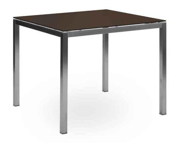 Flexx / Cremona Tisch 90 x 90 HPL bronze