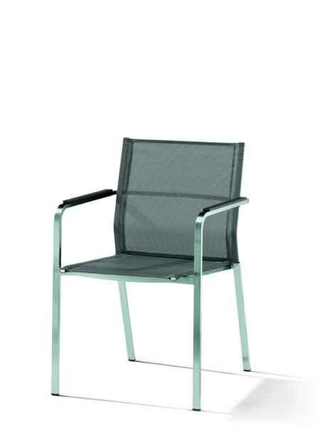 GRANADA Stapelsessel Edelstahl / Textilux
