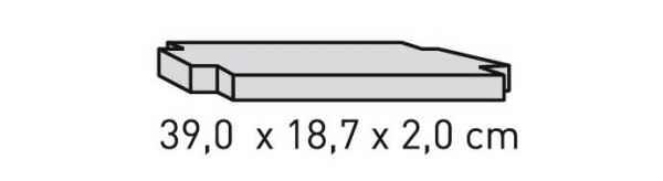 ELEMENTS Strahlschutzplatte 39 x 18,7 x 2 cm