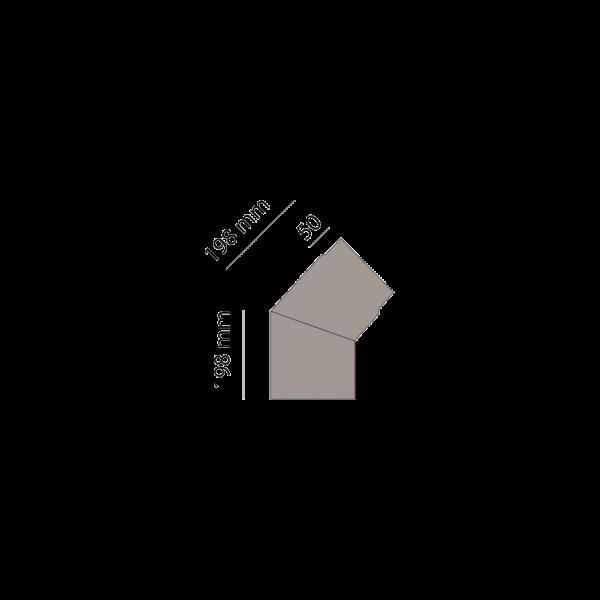 Winkelrohr 45°, Ø 150 mm, platin