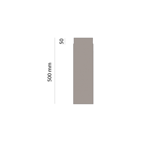 Rauchrohr 500 mm, Ø 150 mm, platin