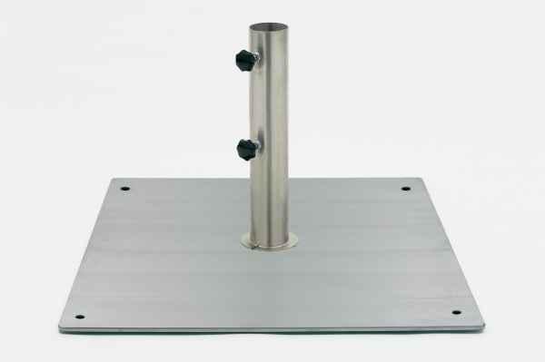 CEYLON Bodenplatte Edelstahl quadratisch